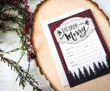 Eat, Drink & Be Merry! Lumberjack Holiday Party Invitations