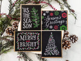 Chalk Art Holiday Card Set