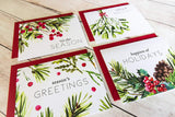 Watercolor Greenery Holiday Card Set