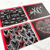 Chalk Art Love Notes: Set of 8 Valentine's Day Blank Note Cards