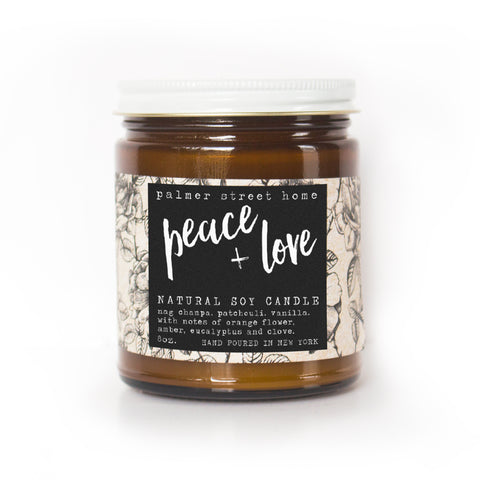 Peace + Love - Fine Soy Candle - 8oz