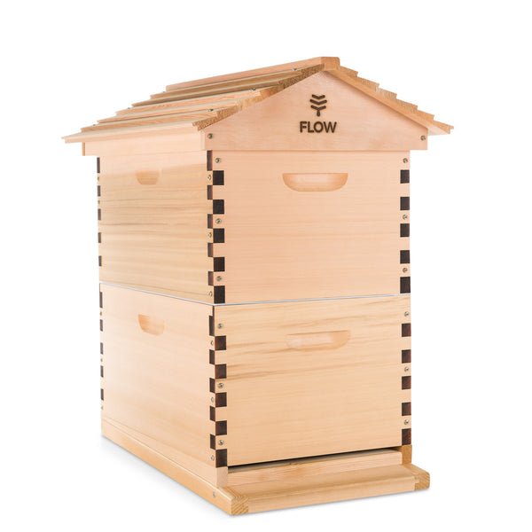 Premium Flow Hive Classic 6 Frame - Raw Timber (Front)