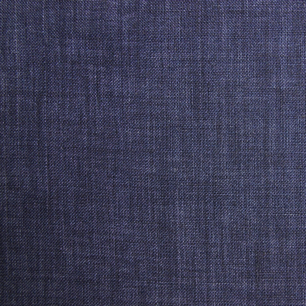 Linen Yarn Dyed Solid - Navy - woven - Earth Indigo