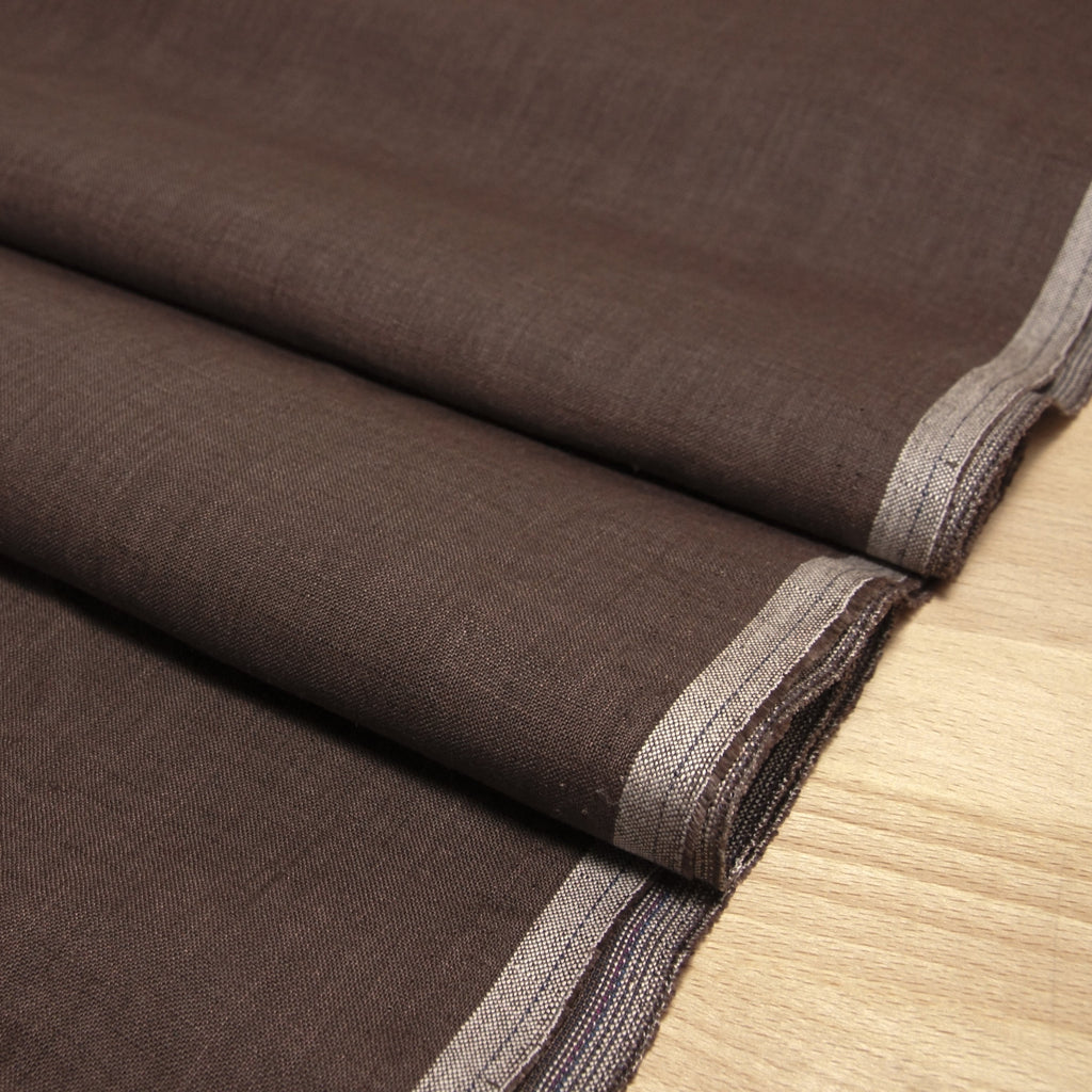Linen Yarn Dyed Solid - Brown - [product_typpe] - Earth Indigo