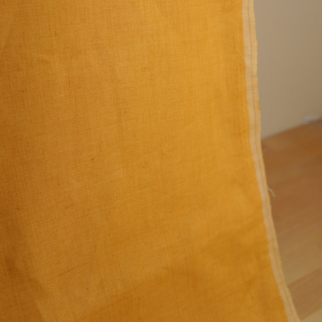 Linen Yarn Dyed Solid - Yellow - [product_typpe] - Earth Indigo