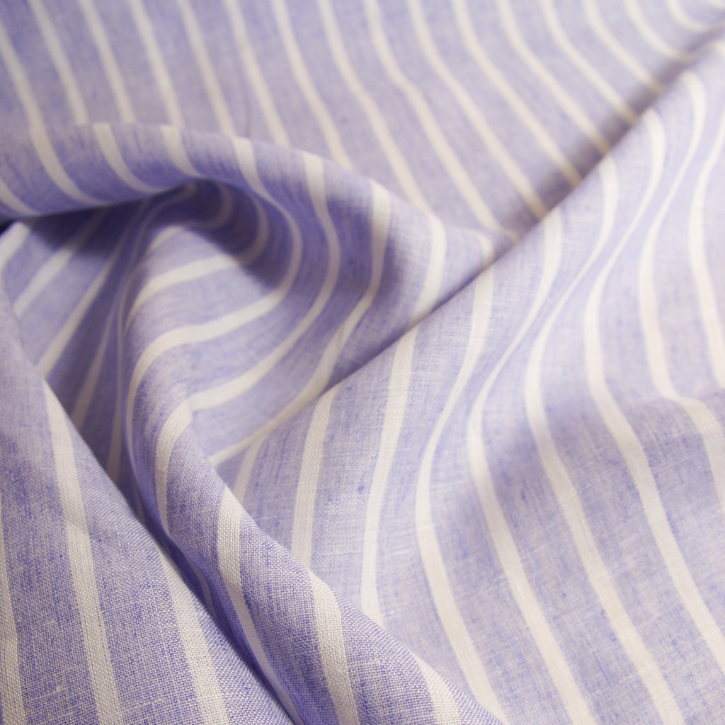 Linen Yarn Dyed Stripes -  2 colours - [product_typpe] - Earth Indigo