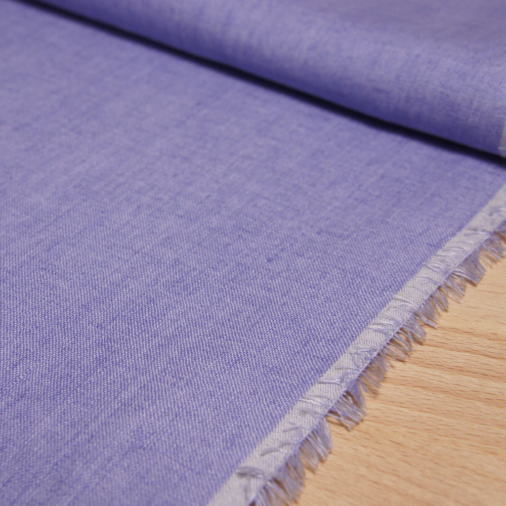 Linen Yarn Dyed Solid - Lavender - woven - Earth Indigo