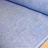 Linen Yarn Dyed Jacquard - Blue Diamond - woven - Earth Indigo