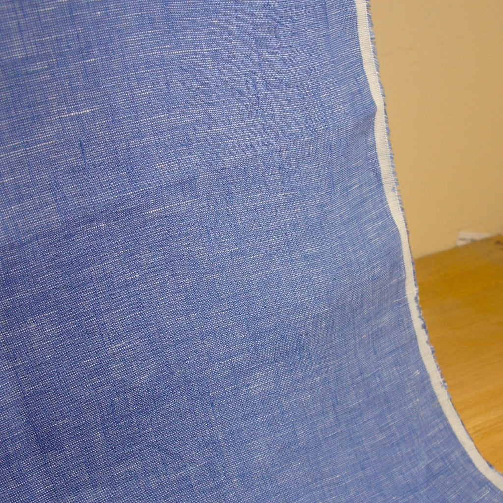 Linen Yarn Dyed Chambray - Blue - [product_typpe] - Earth Indigo