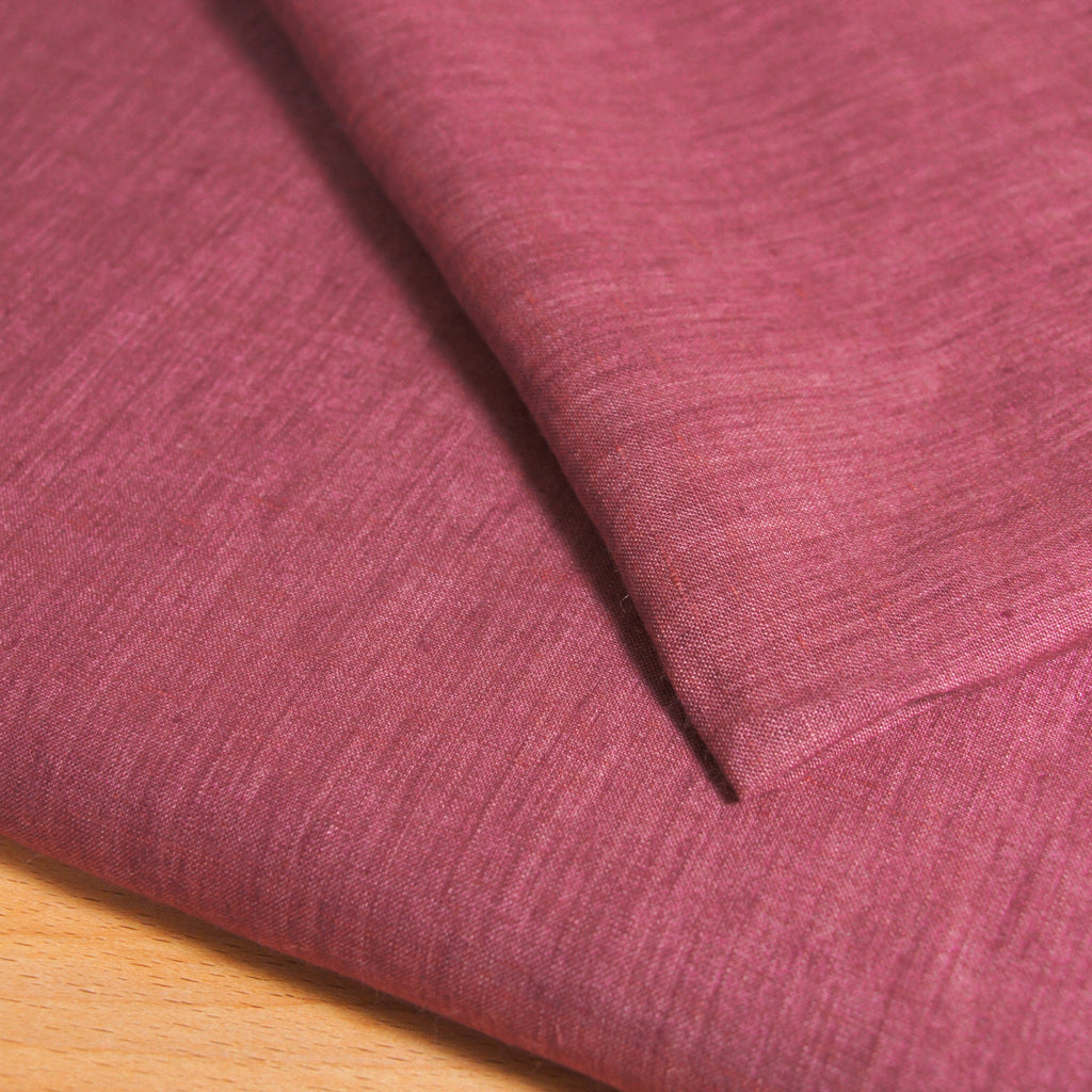 Linen Yarn Dyed Solid - Red - [product_typpe] - Earth Indigo