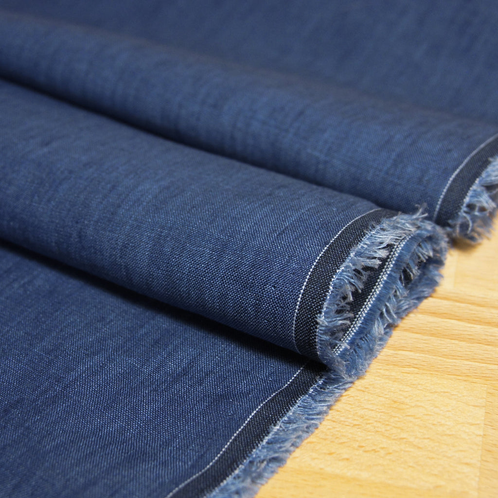 Linen Yarn Dyed Solid - Blue - woven - Earth Indigo