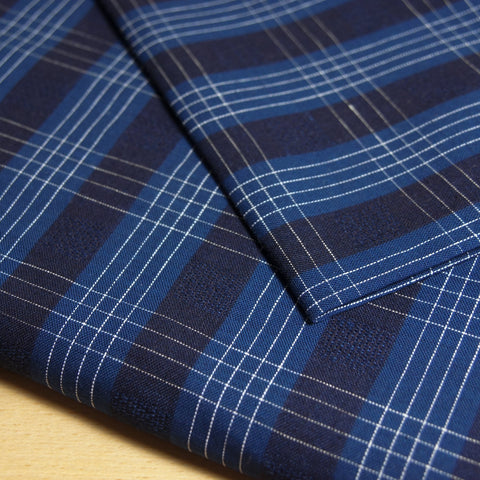 Linen Yarn Dyed Pinstripes - Dark Blue