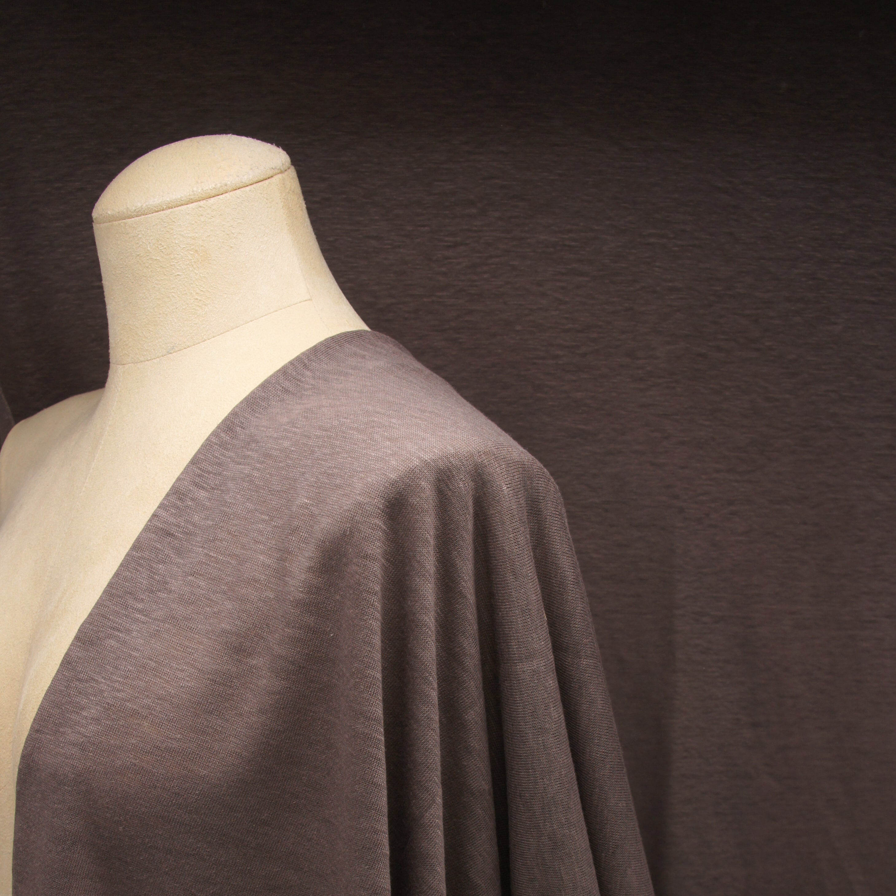 Japanese Linen Jersey - Brown