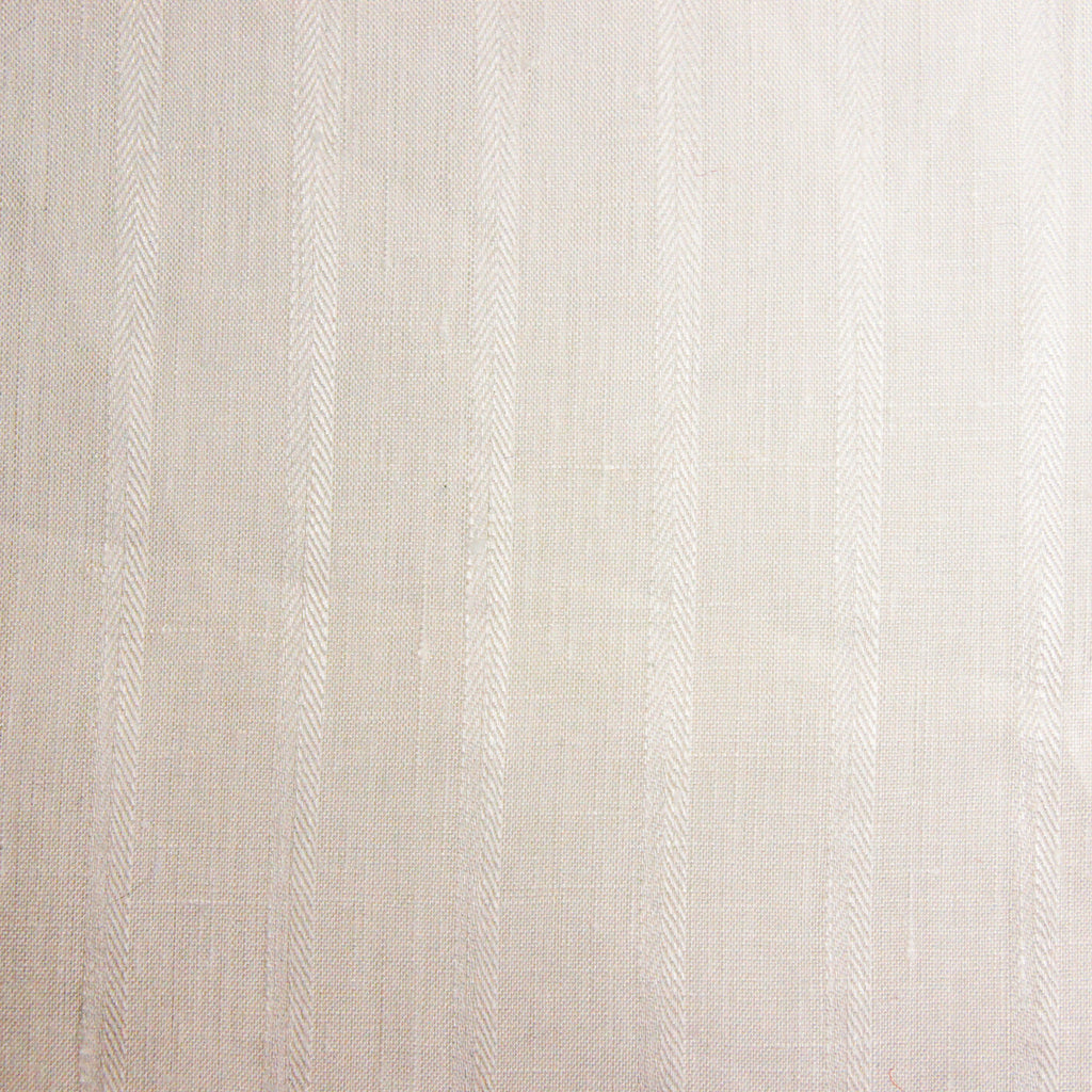 Linen Jacquard Stripe - White - [product_typpe] - Earth Indigo