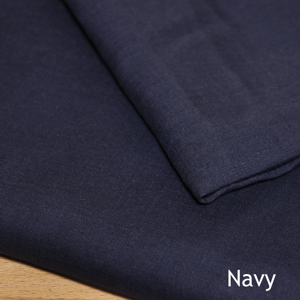 Linen Solid - Plain woven - woven - Earth Indigo