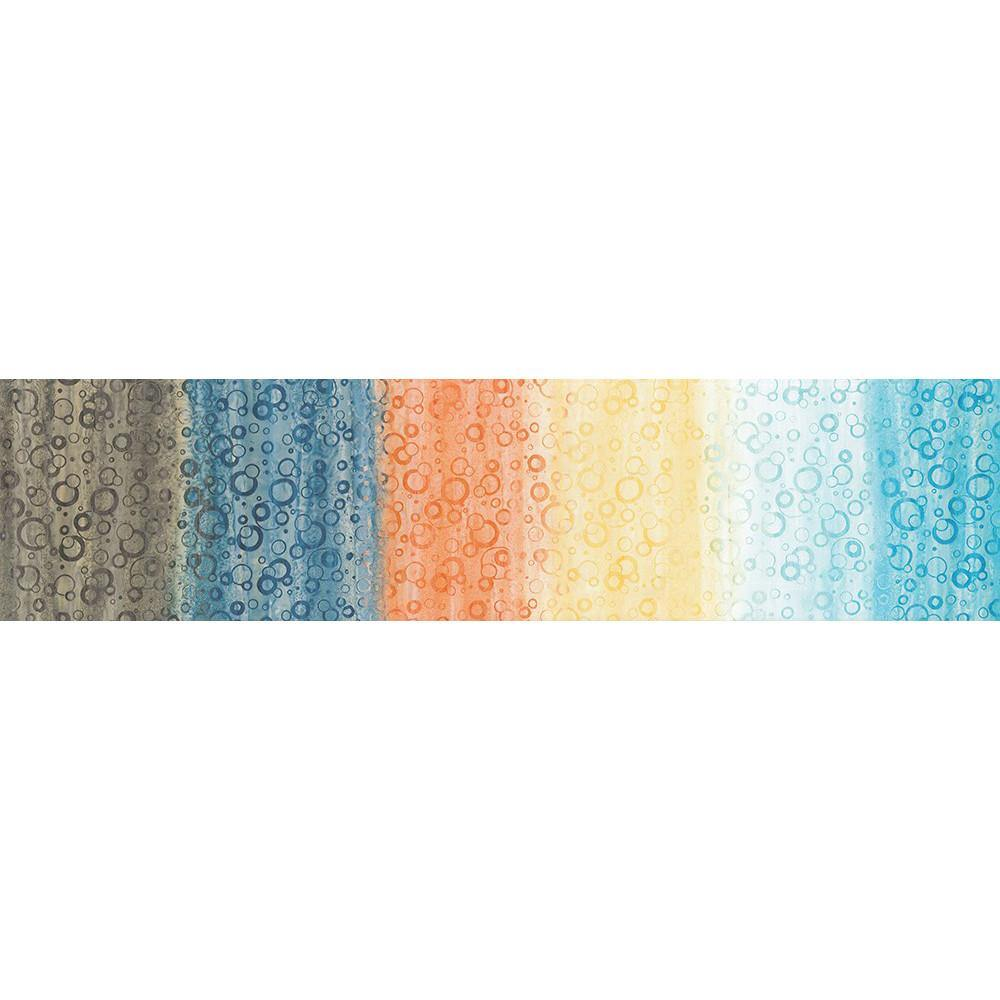 Designer Batik - Multi Coloured It's Awesome Large Bubbles Gradations - [product_typpe] - Earth Indigo