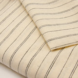Hemp Organic Cotton Lightweight - Natural Stripe - woven - Earth Indigo