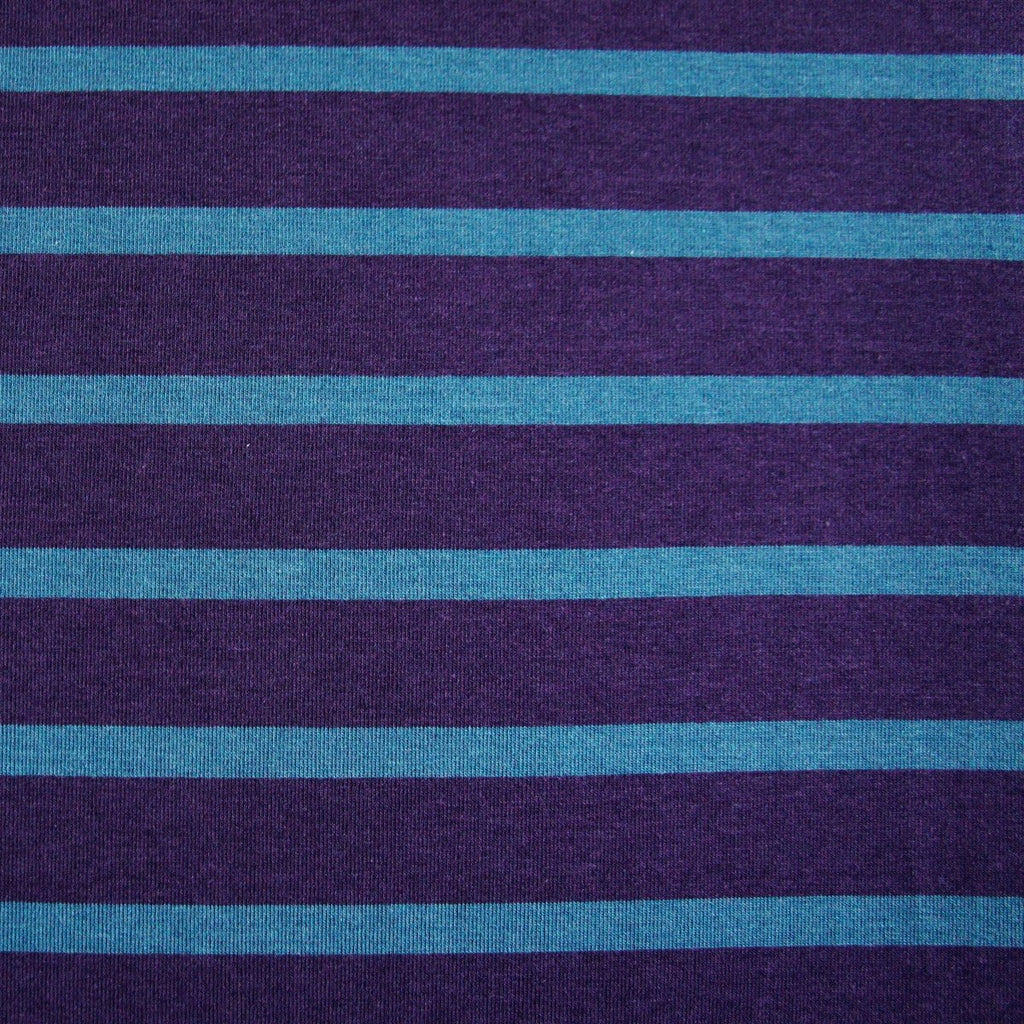 Bamboo Cotton Spandex Jersey Stripes - Plum Everglade - [product_typpe] - Earth Indigo