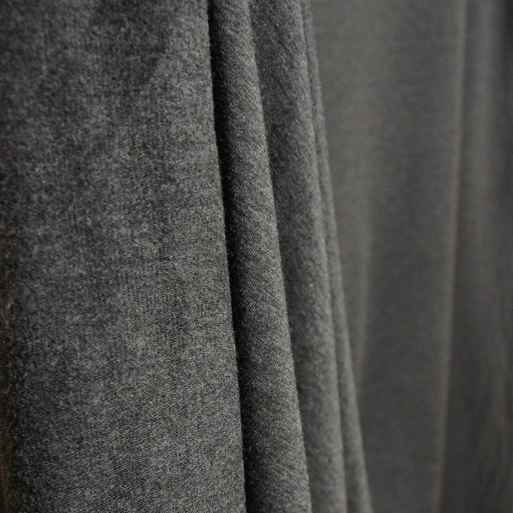 Bamboo Cotton Spandex French Terry - Charcoal Mix - [product_typpe] - Earth Indigo