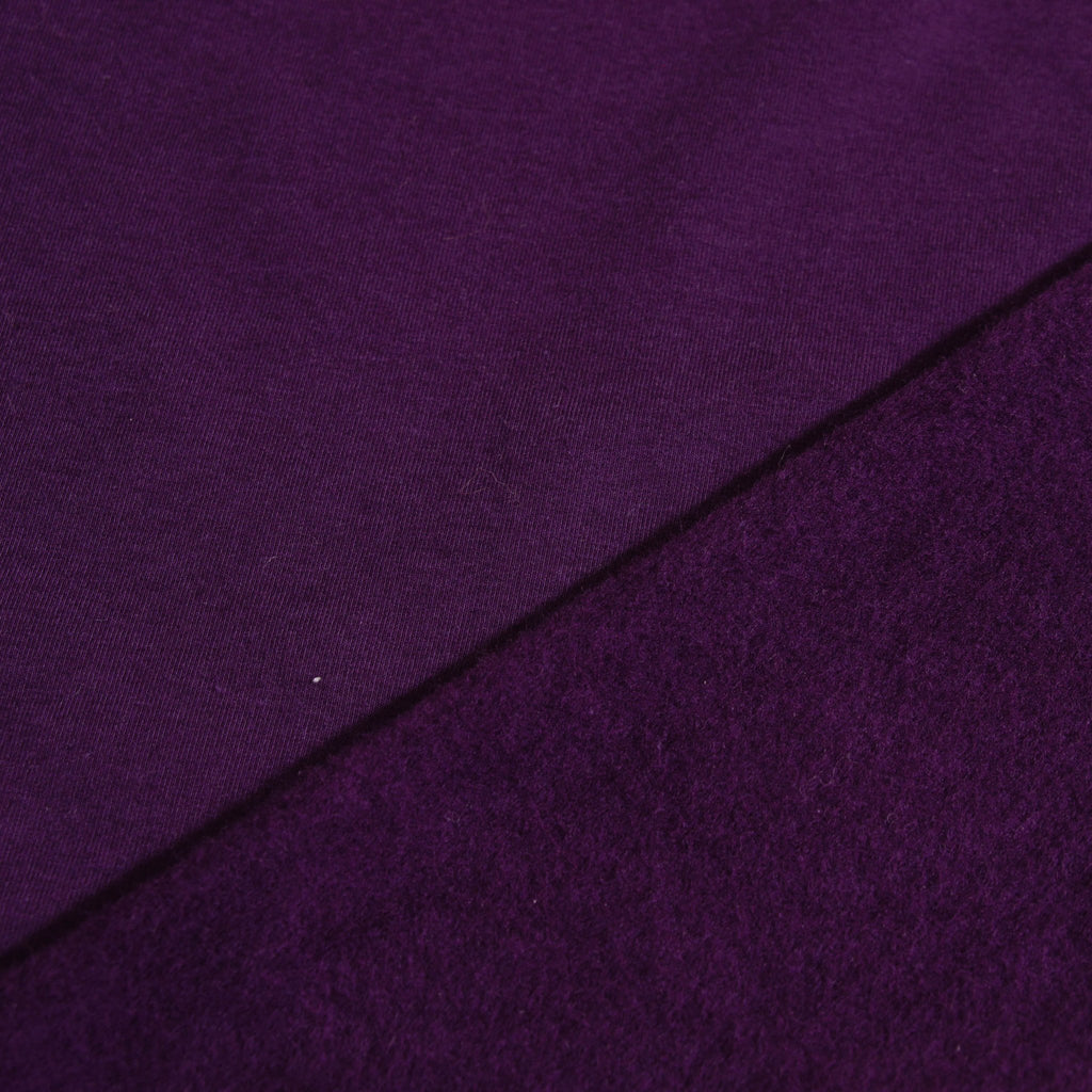 Bamboo Cotton Spandex Stretch Fleece - Plum - [product_typpe] - Earth Indigo