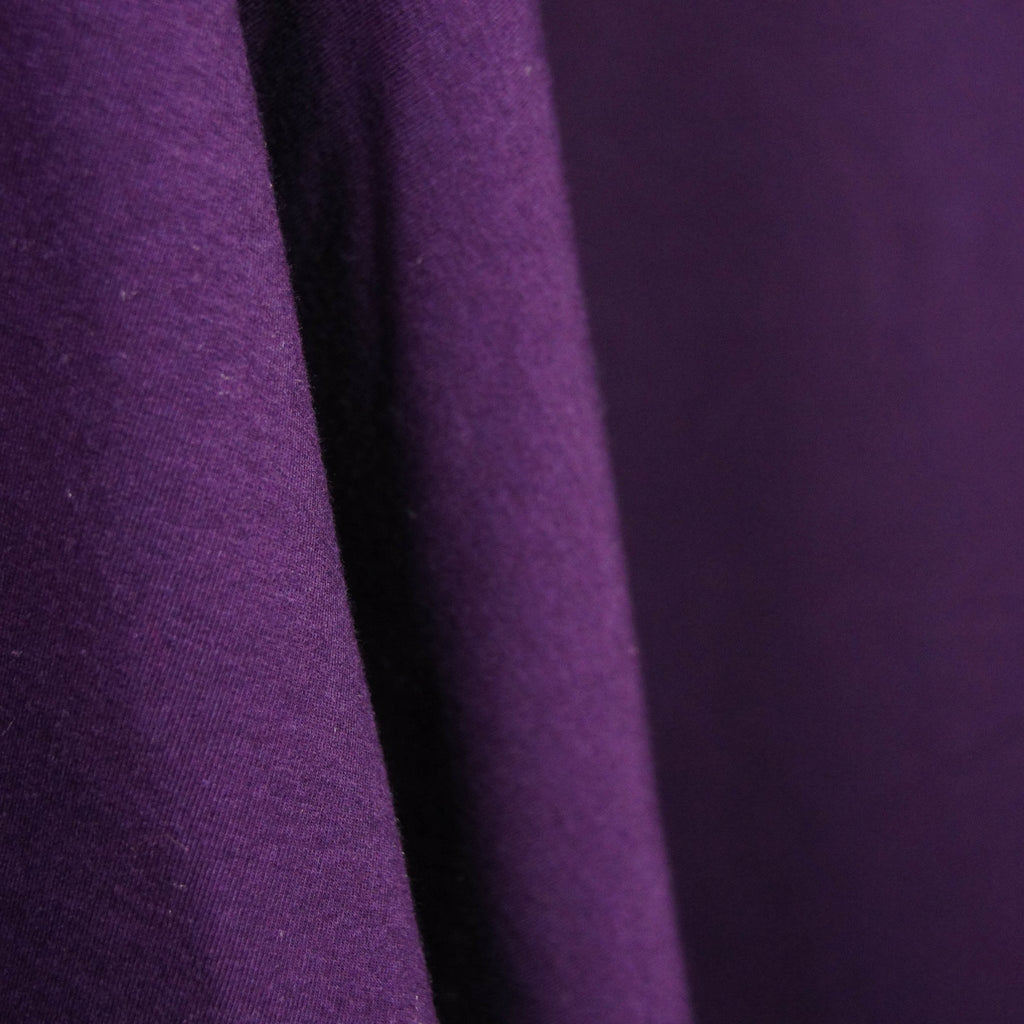 Bamboo Cotton Spandex Stretch Fleece - Plum - Knit - Earth Indigo