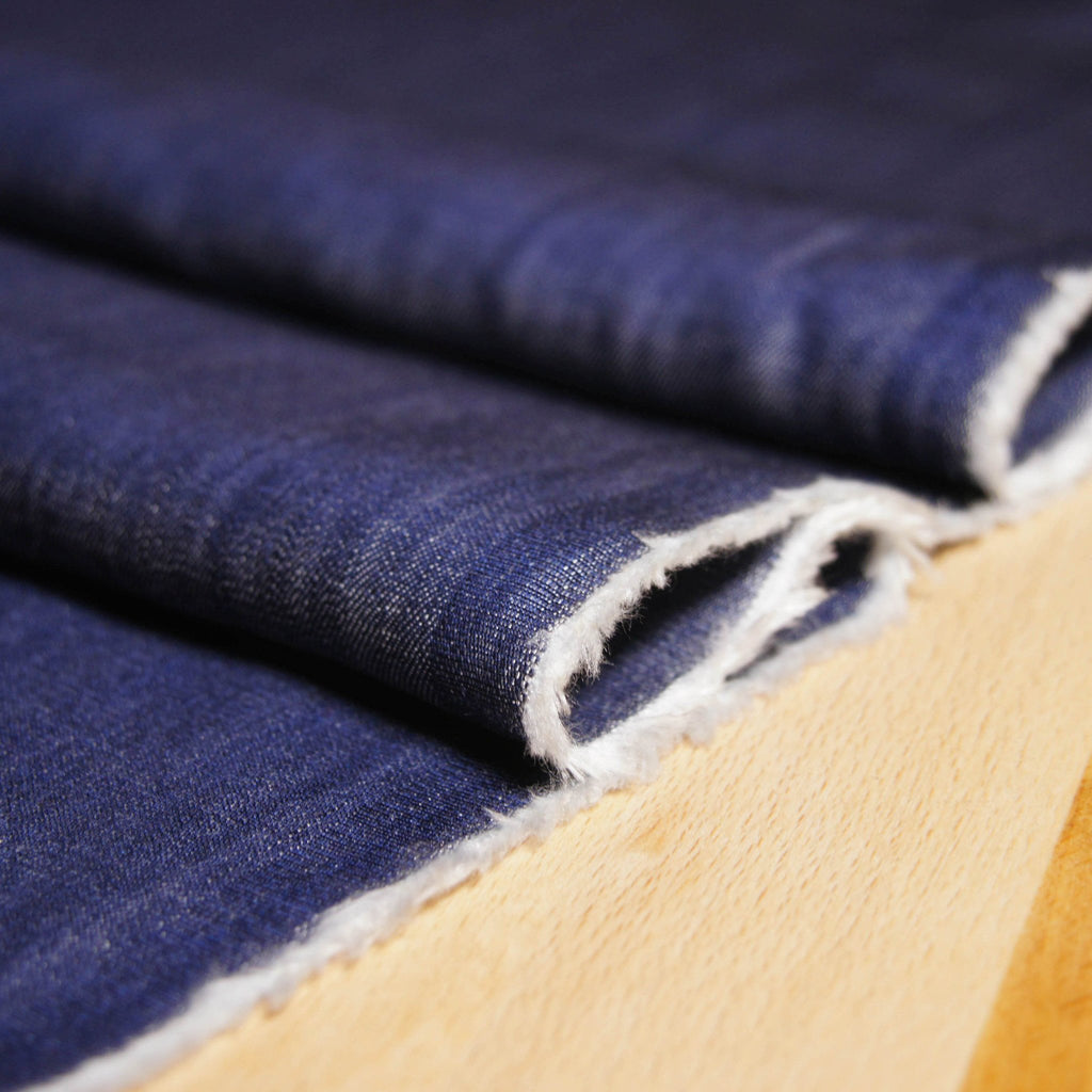 Tencel Slub Denim - Blue - woven - Earth Indigo