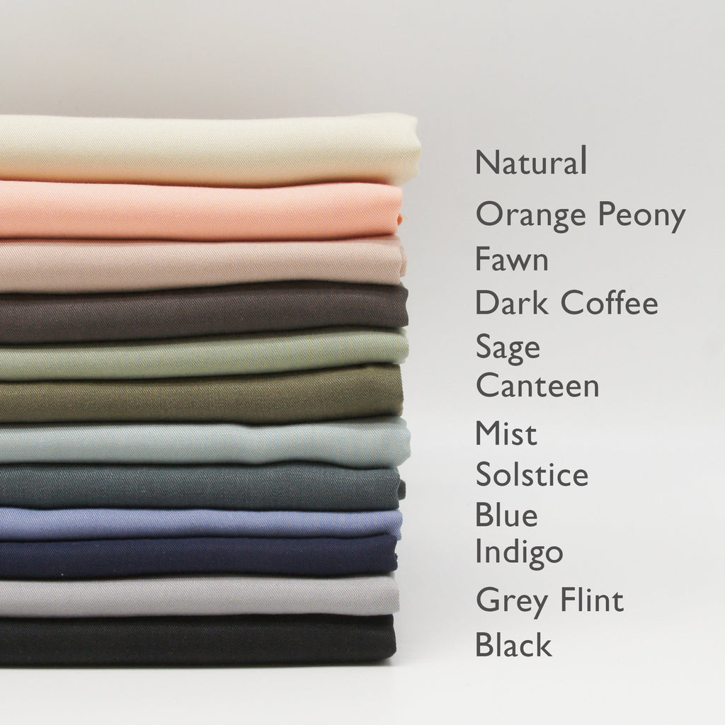 Enzymatic Tencel Lyocell Twill - Natural - Earth Indigo