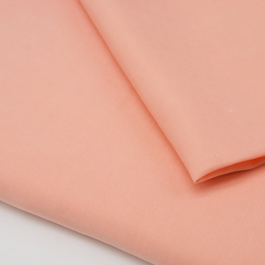 Enzymatic Tencel Lyocell Twill - Orange Peony