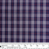 Twill - Blue Red White Small Plaid - [product_typpe] - Earth Indigo