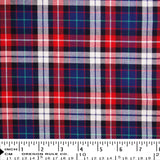 Twill - Blue Red White Plaid - [product_typpe] - Earth Indigo