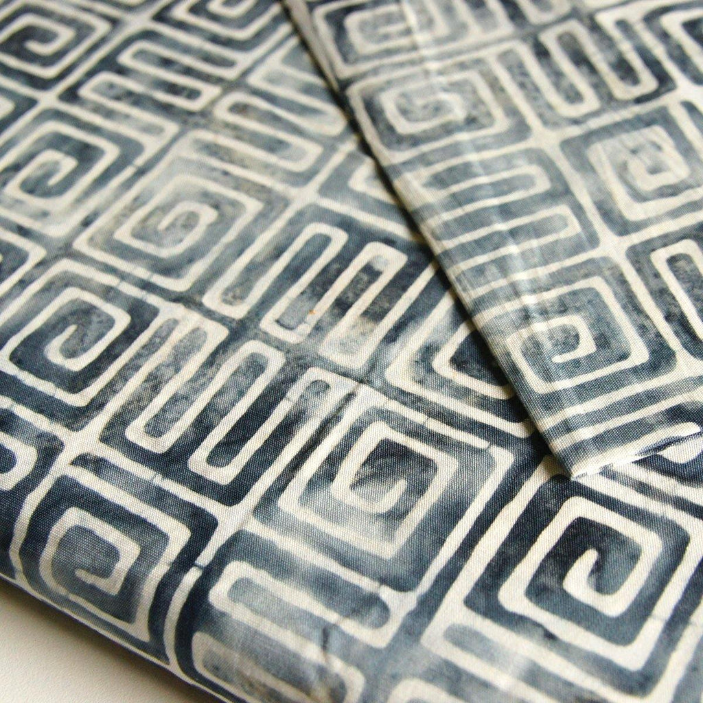 Designer Batik - Grey Northwest Territories Aztec - woven - Earth Indigo