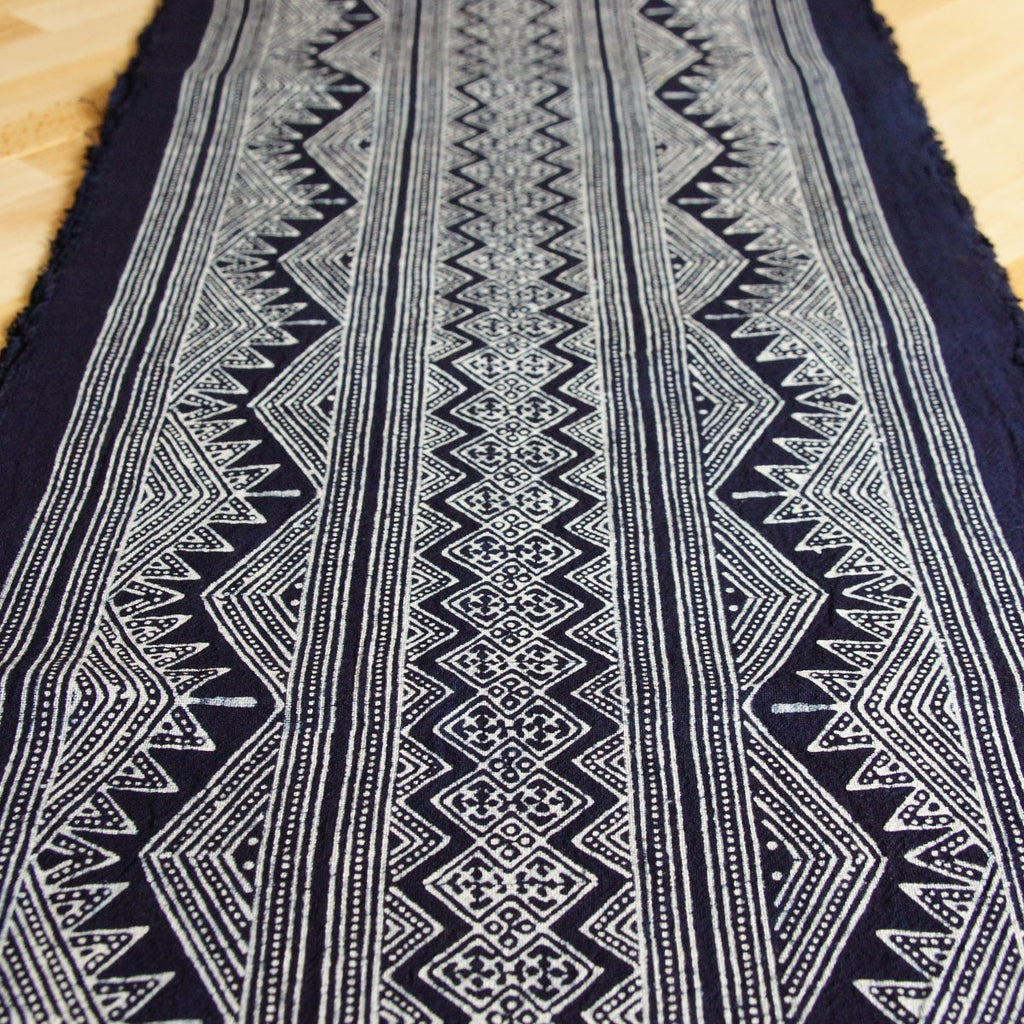 "Batik Roll - 14"" Wide Indigo Hmong Hill Tribe Handprinted Style W9 - [product_typpe] - Earth Indigo"