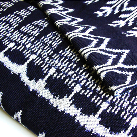 Mayan Stripe Ikat - Blue Red Guatemalan Handwoven