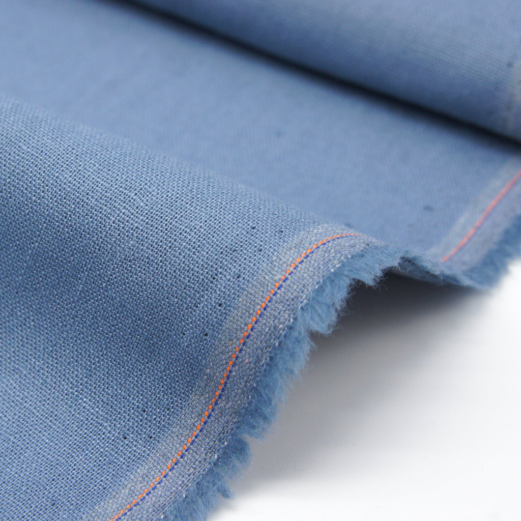 Linen Organic Cotton Solid - Blue - Earth Indigo