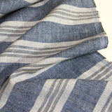 Hemp Organic Cotton Woven - Multi Stripe - woven - Earth Indigo