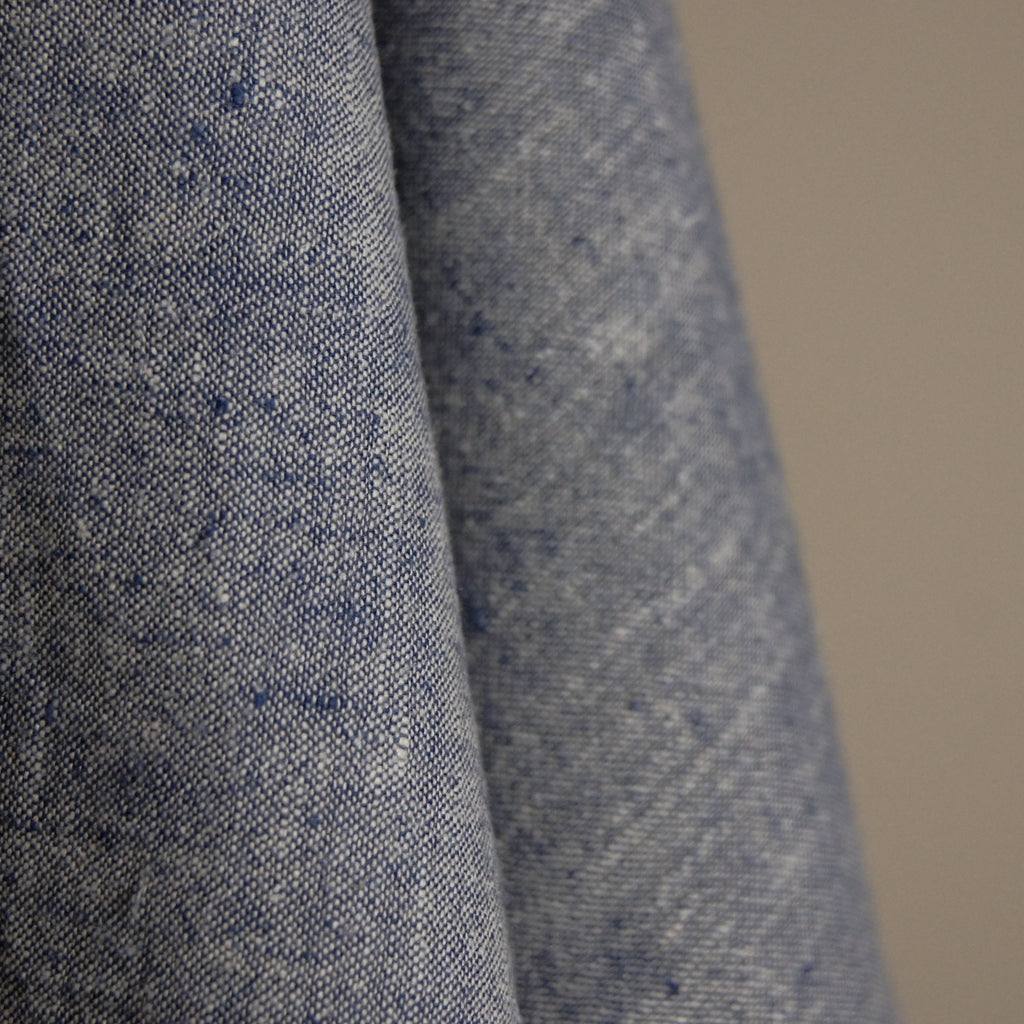 Hemp Organic Cotton Lightweight - Denim Blue Solid - woven - Earth Indigo