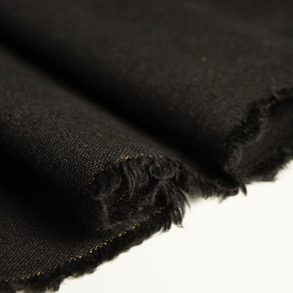 Hemp Organic Cotton Canvas - Black - woven - Earth Indigo