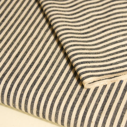 Hemp Organic Cotton Lightweight - Ice Blue Stripe