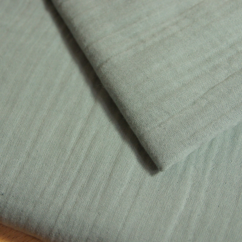 Organic Cotton Double Gauze - Green Mist - woven - Earth Indigo