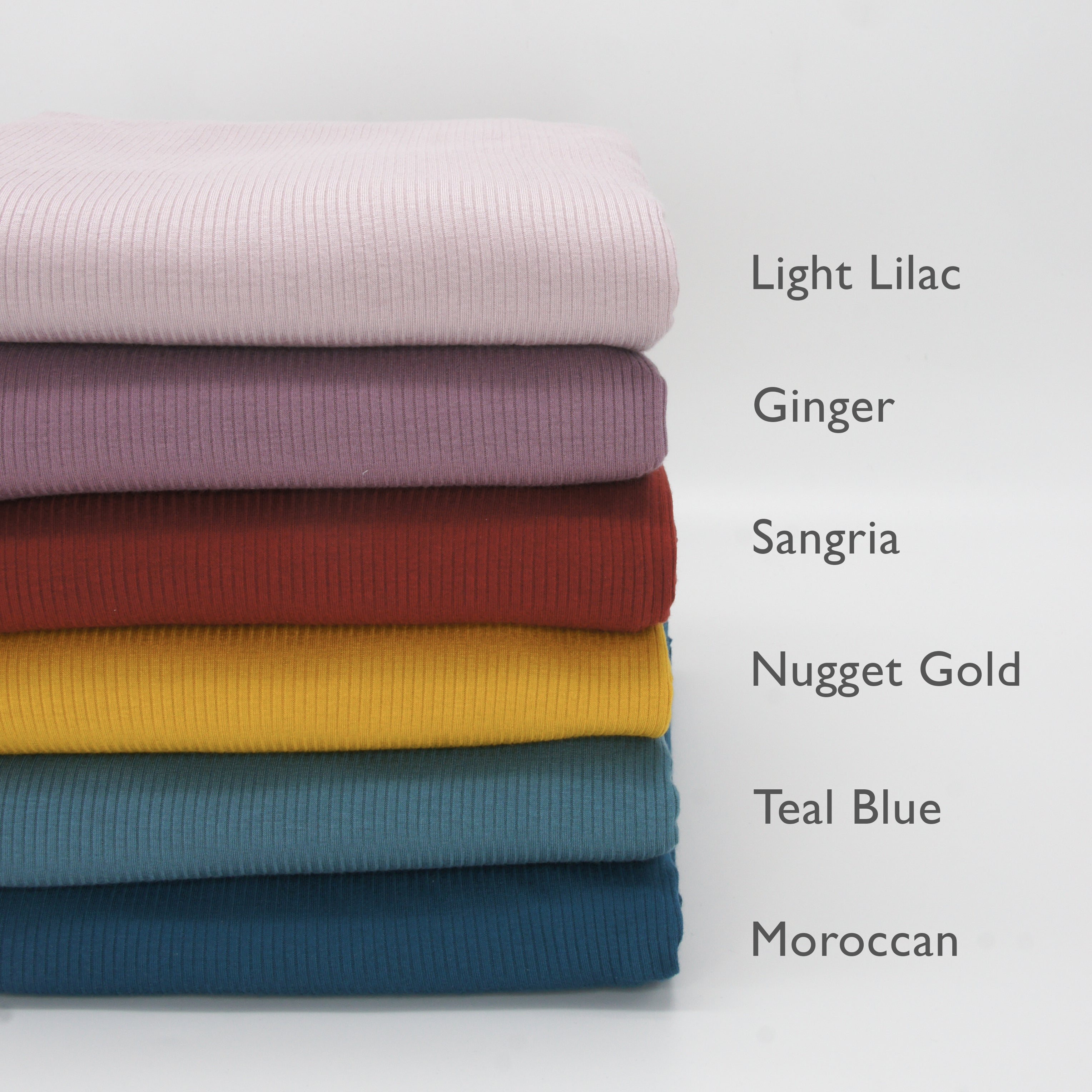 Tencel Modal Spandex Ribbed Knit - Ginger