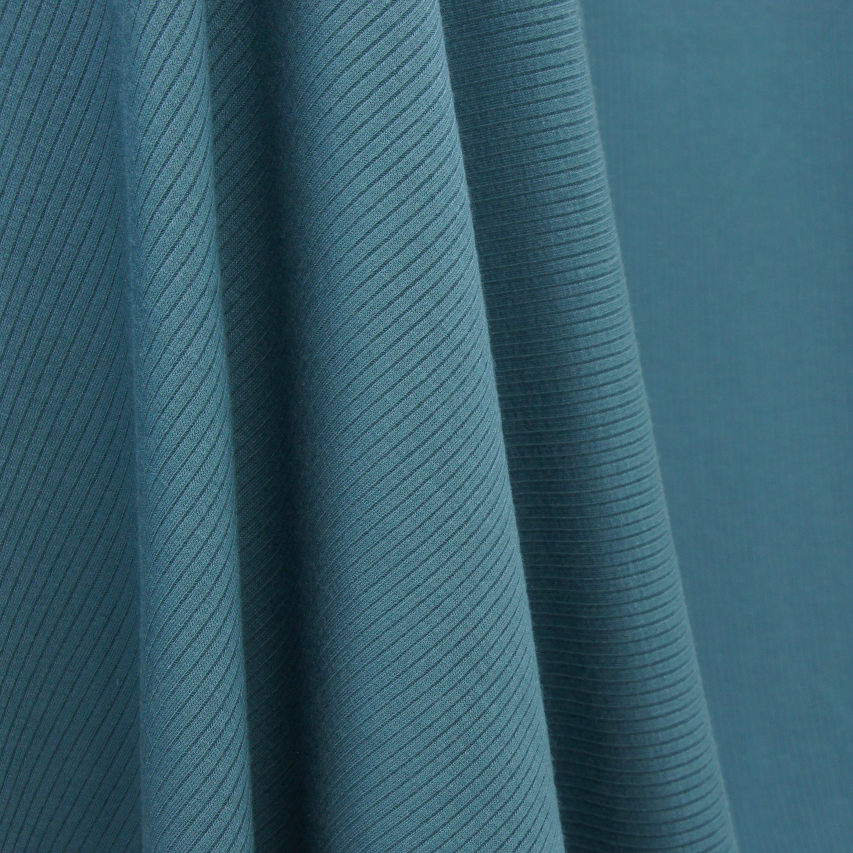 Tencel Modal Spandex Ribbed Knit - Teal Blue