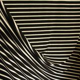 Bamboo Cotton Spandex Jersey Stripes - Black Almond - [product_typpe] - Earth Indigo