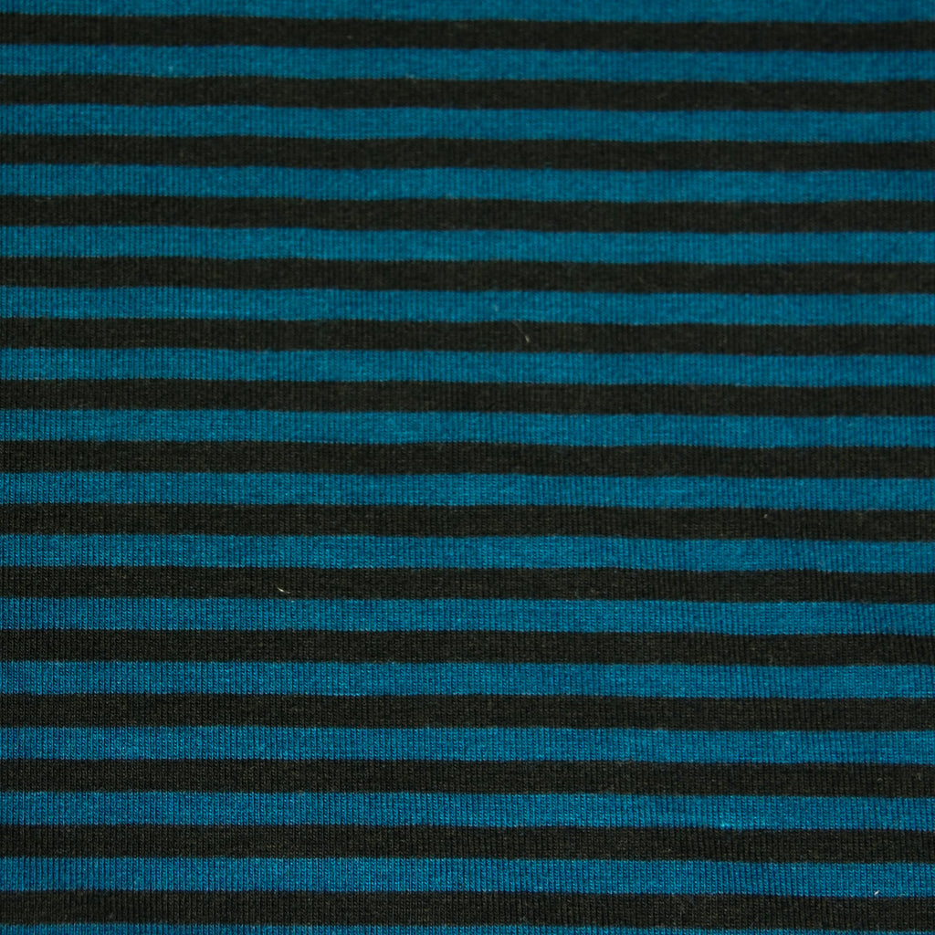 Bamboo Cotton Spandex Jersey 4mm Stripes - Black Moroccan - [product_typpe] - Earth Indigo