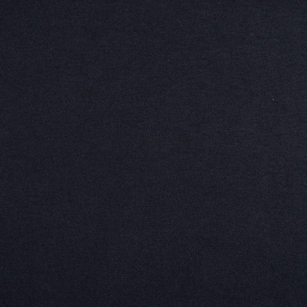 Bamboo Cotton Spandex Jersey Fabric - Black - Knit - Earth Indigo