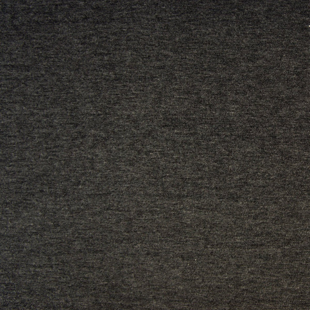 Bamboo Cotton Spandex Jersey Fabric - Charcoal Mix - Knit - Earth Indigo
