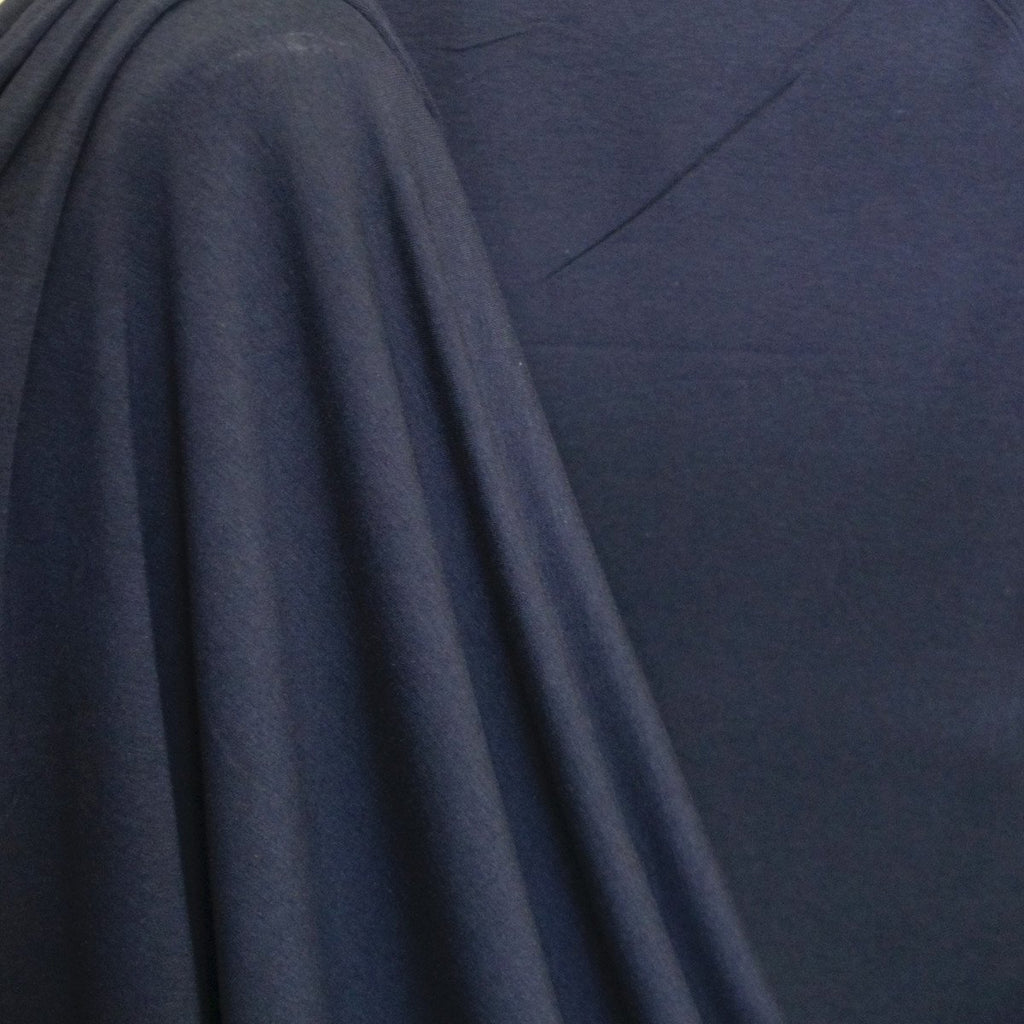 Bamboo Cotton Spandex Jersey Fabric - Navy Blue - Knit - Earth Indigo