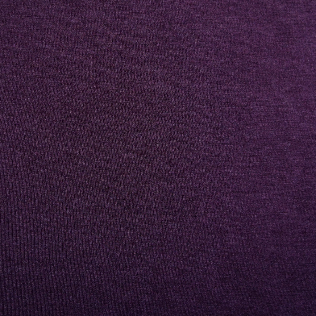 Bamboo Cotton Spandex Jersey Fabric - Plum - Knit - Earth Indigo