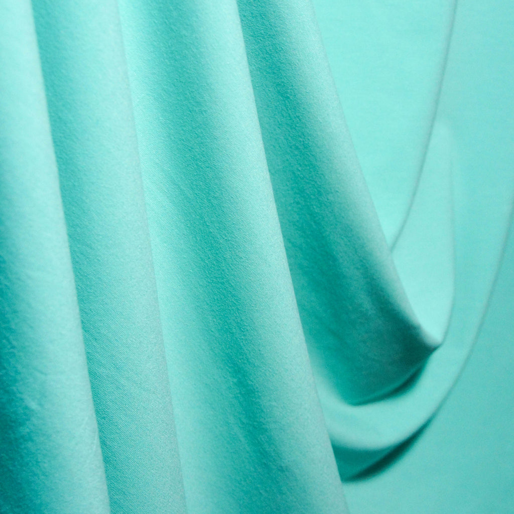 Bamboo Cotton Spandex Jersey Fabric - Mint - Knit - Earth Indigo