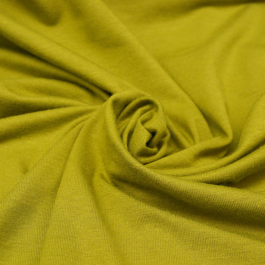 Bamboo Cotton Spandex Jersey Fabric - Chartreuse