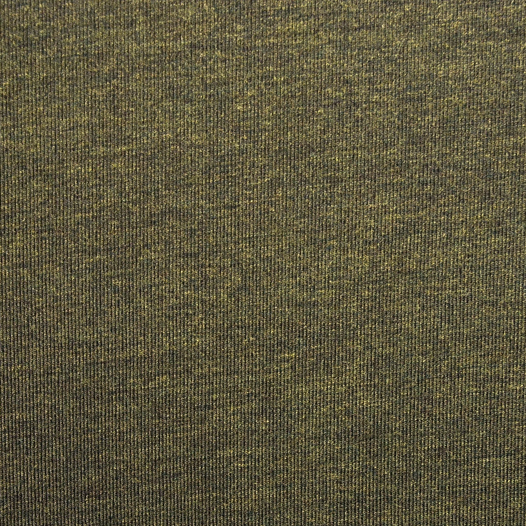 Bamboo Cotton Spandex Jersey Fabric  - Heather Forest - Knit - Earth Indigo